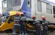 Şofer lovit de tren, în stare gravă la spital