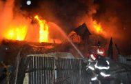 Incendiu în curtea bisericii
