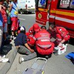 Accident pe trecerea de pietoni în Pitești. Pieton la pământ!