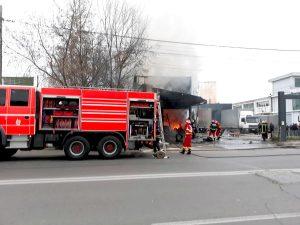 ACUM! Incendiu in Pitești