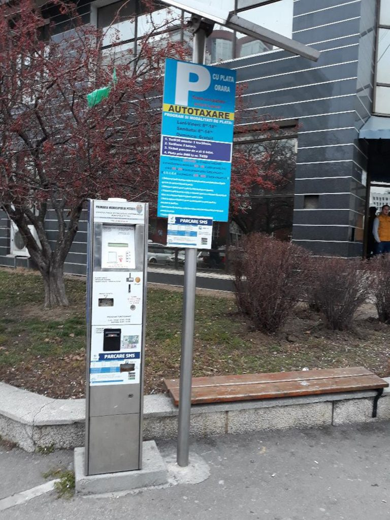 Noi locuri de parcare cu taxă la Pitești
