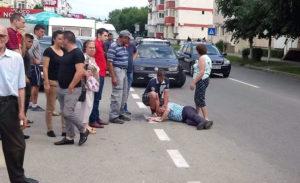 Bărbat de 19 ani, căzut în stradă
