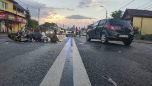 Motociclist rănit grav, pe Calea Câmpulung