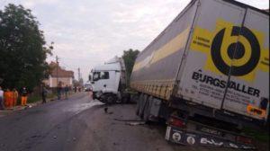 Camionul primarului Secăreanu din Dâmbovicioara, accident grav în Covasna
