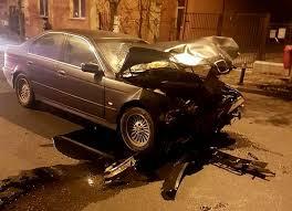 Opel răsturnat de un BMW