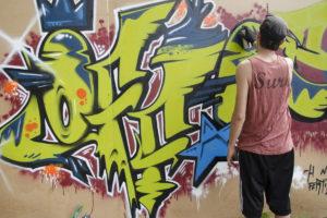 Grafitti cu tema Centenarului, la Grădina de Vară