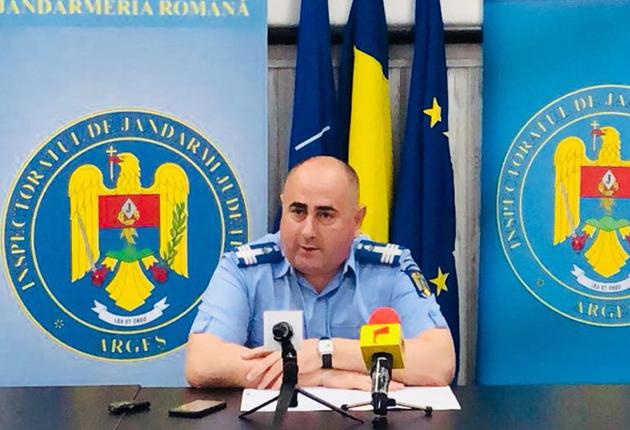 ȘEFUL JANDARMERIEI ARGEȘ, INTERNAT CU COVID