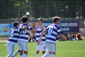 Juniorii alb-violeţi sub 13 şi sub 14 ani, rezultate foarte bune la un turneu internaţional de fotbal din Ungaria