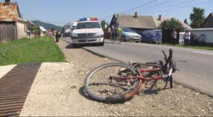 Biciclist lovit de un şofer băut, la Ştefăneşti