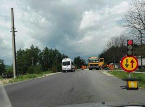 S-au reluat lucrările pe drumul Piteşti - Braşov