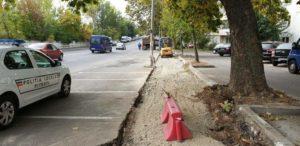 Lucrări pe Calea Drăgășani