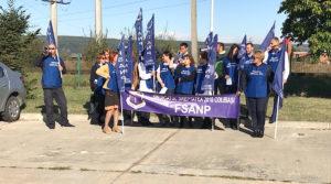 Protest la Penitenciarul Mioveni
