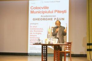 Academicianul Gh. Păun, la Colocviile Municipiului Piteşti