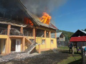 Incendiul de la Valea Corbului, provocat intenţionat