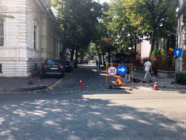 Stradă blocată în Pitești