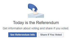Referendum pe Facebook - reţeaua de socializare pe post de