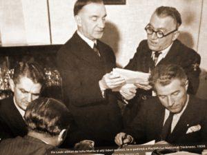 Fotografie-document: Ilie Lazăr, alături de Iuliu Maniu, în 1938
