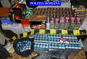 Reţinuţi pentru contrabandă cu ţigări şi petarde