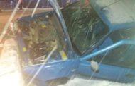 Accident la Ţiţeşti! A intrat cu maşina într-un cap de pod