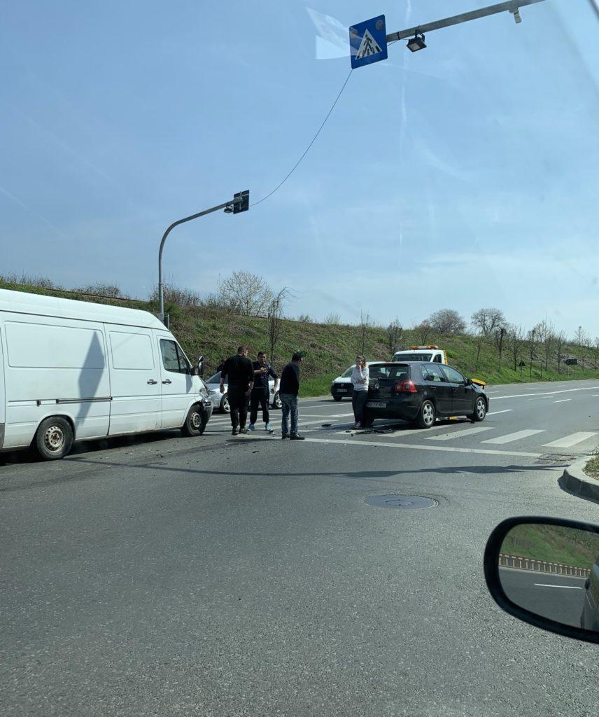 Accident pe strada Gheorghe Șincai din Pitești