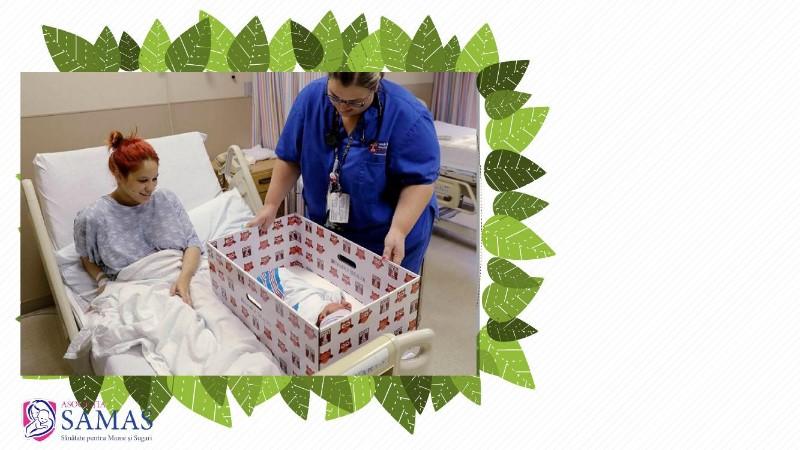 Cutia bebeluşului pentru pruncii ocrotiţi de Asociaţia SAMAS
