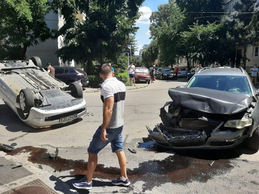 Accident spectaculos în Pitești!