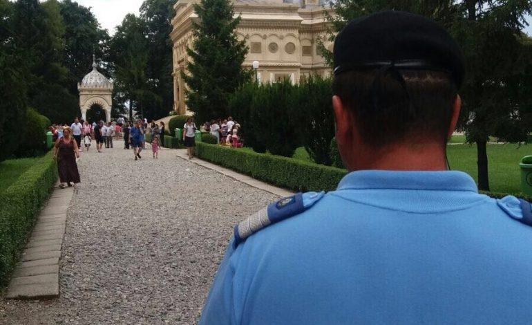 Jandarmii păzesc grădina lui Dumnezeu la Curtea de Argeş!