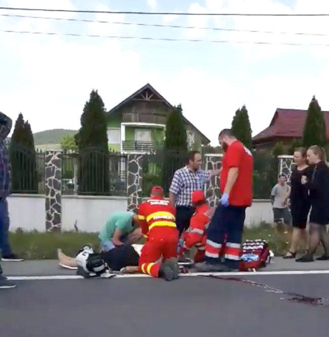 Prins fără permis după ce şi-a accidentat vecina!
