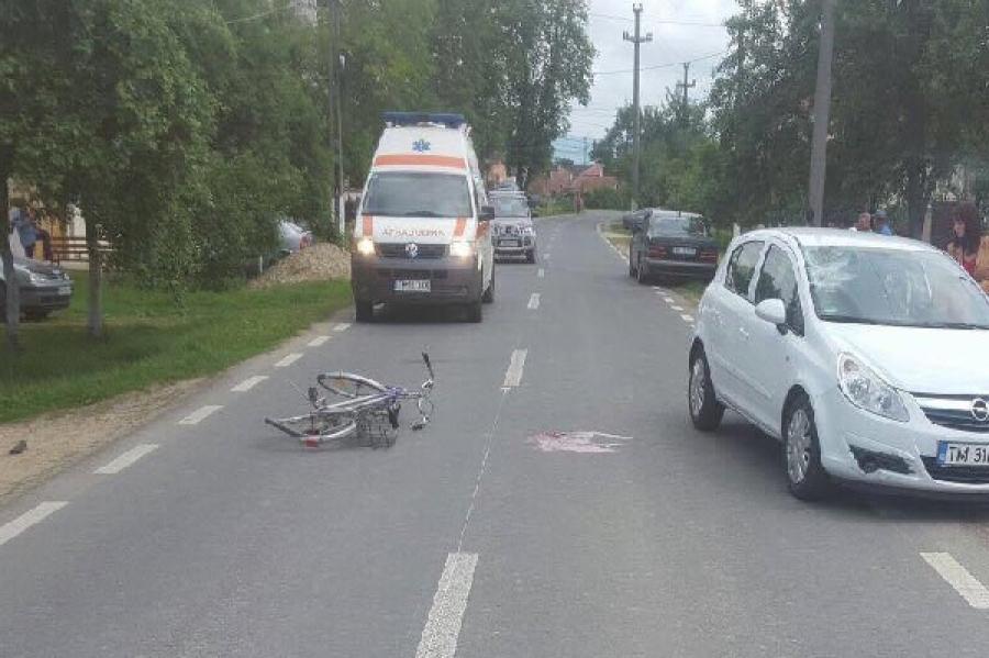Biciclistul a virat spre... spital