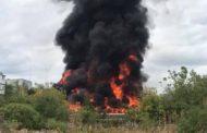Incendiu violent în Prundu