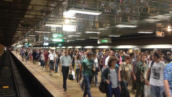 Martoră la un incident terifiant în staţia Metrorex