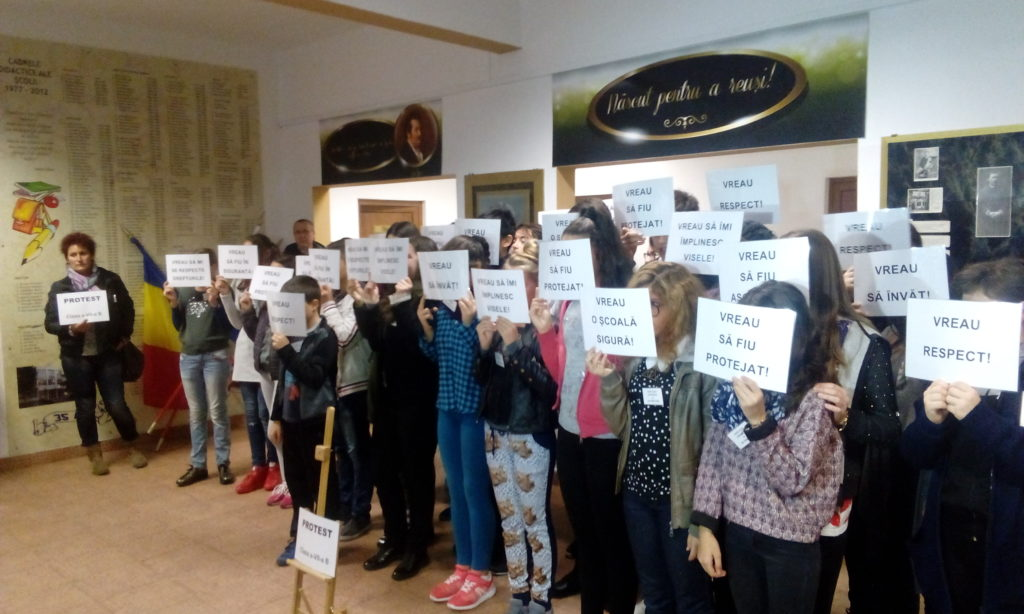 Protestul elevilor de la şcoala