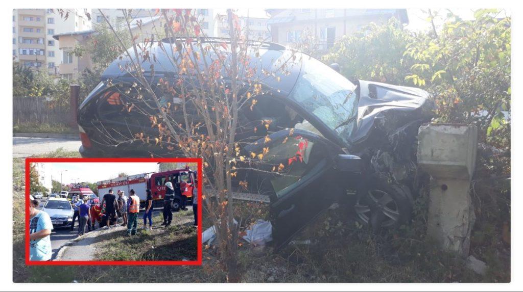 Mamă și fiică, rănite în accident la Pitești