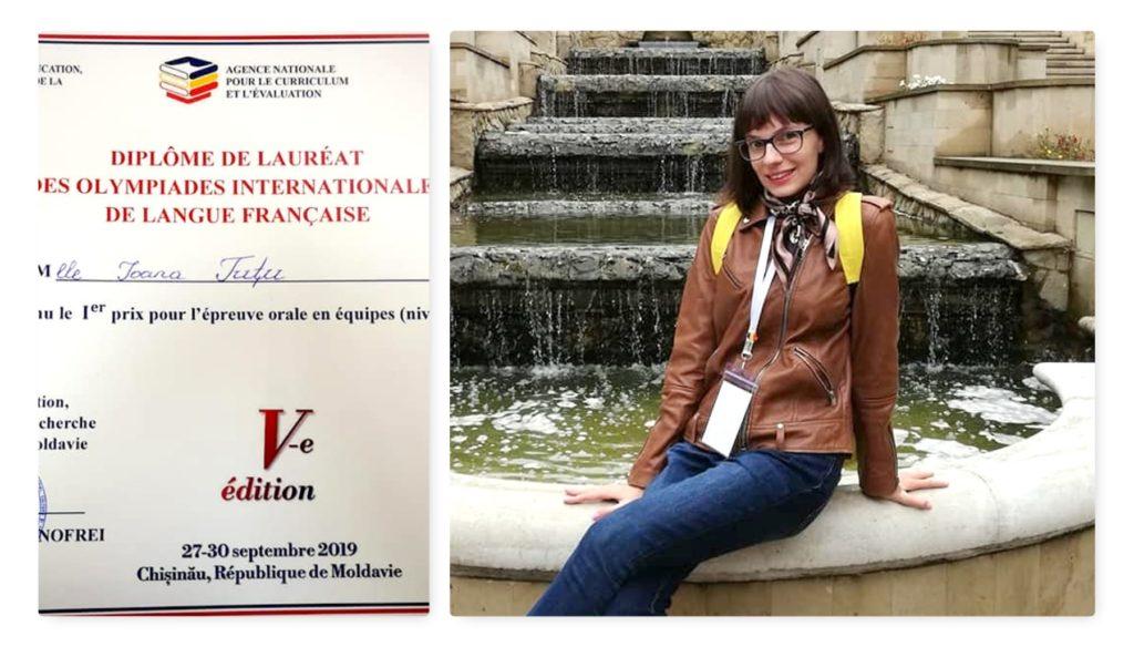 Elevă din Argeş, locul I la Olimpiada internaţională de limbă franceză