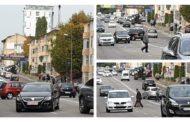 Pietoni inconștienți în Pitești, avertizați de polițiștii locali