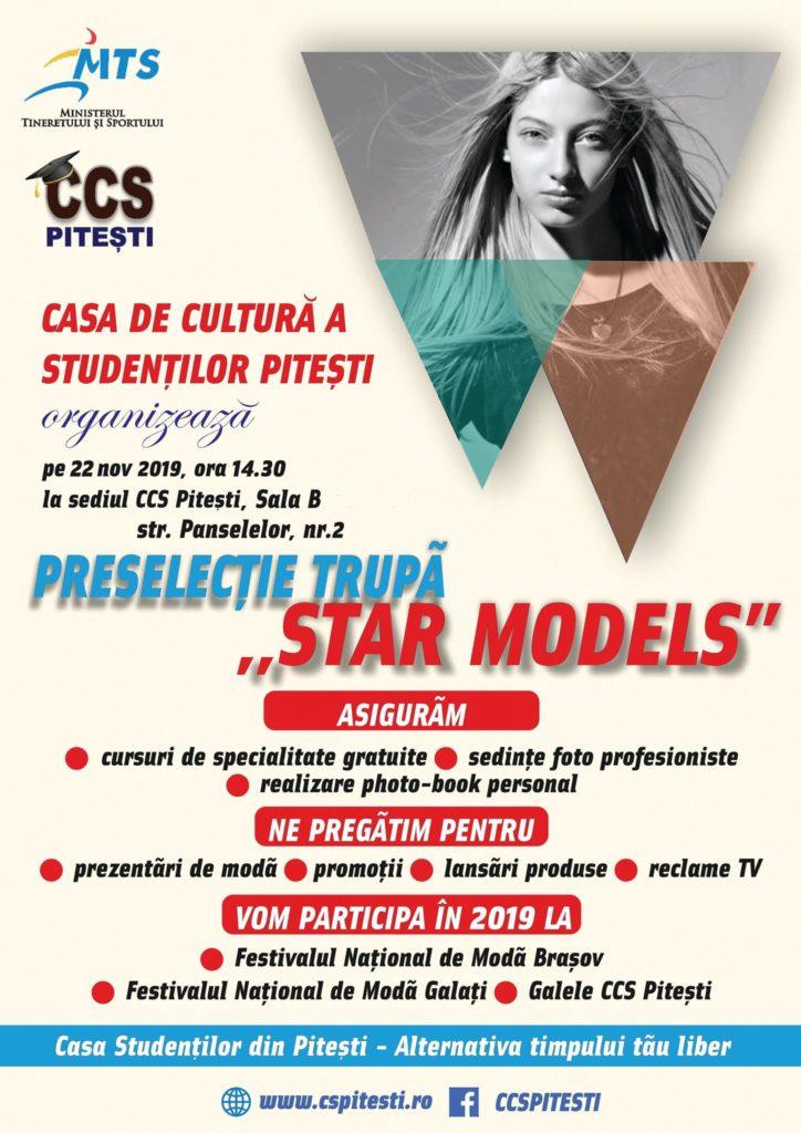 Agenția de modă STAR MODELS organizează preselecții!