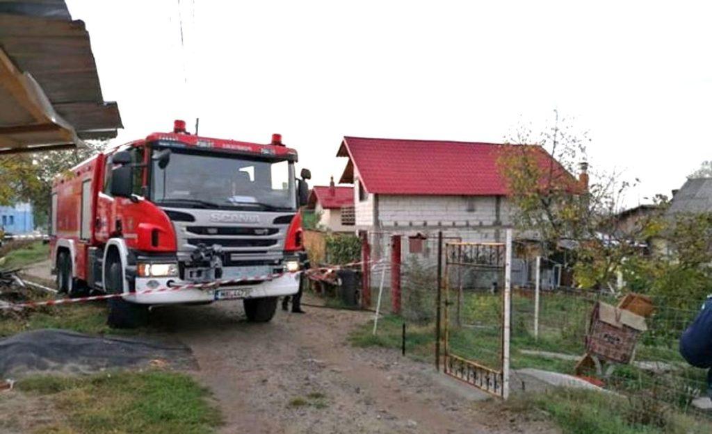 Incendiu în apropiere de Primăria Bradu!