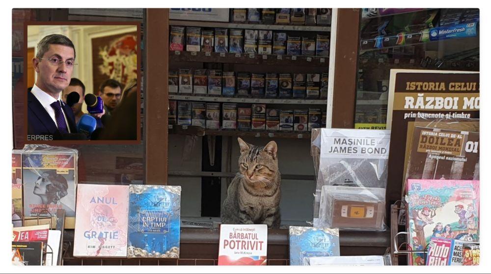 Pisica lui Dan Barna, angajată la o tonetă din Pitești