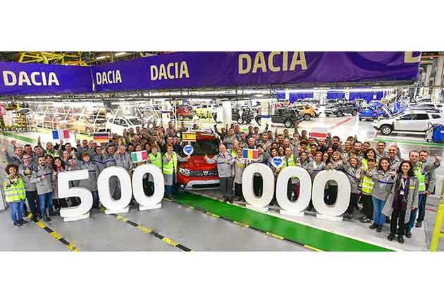 Dacia a produs 500.000 de vehicule Duster