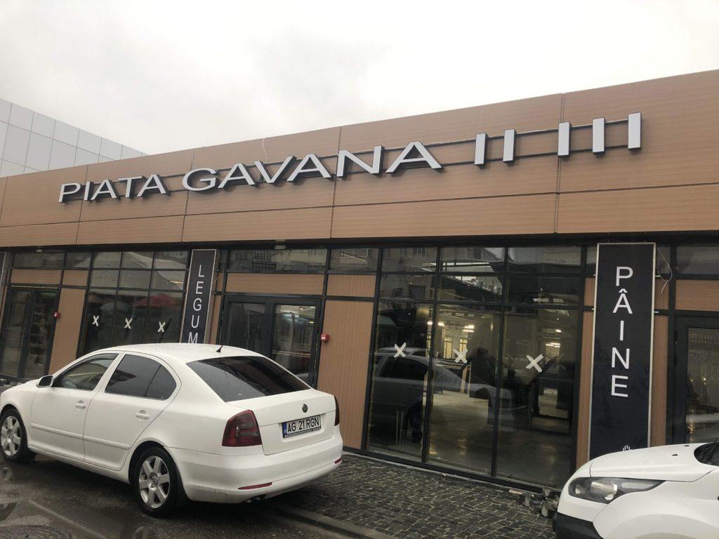 Piaţa Găvana, dată în folosinţă