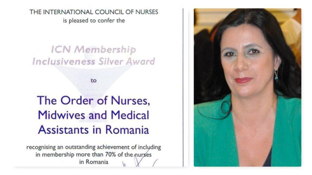 Ordinul Asistenţilor Medicali din România primeşte Premiul ICN pentru Reprezentativitate