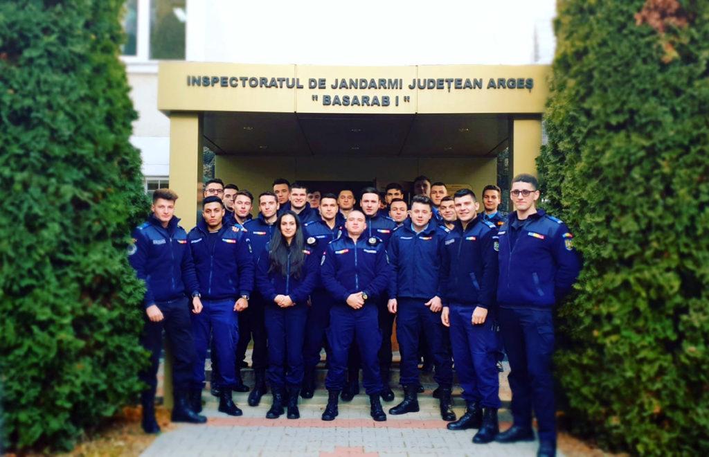 Studenţi în practică la Jandarmerie şi Poliţie