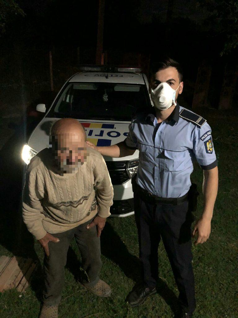 Poliţiştii l-au găsit într-o grădină
