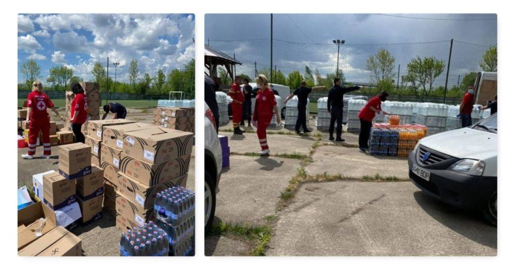 Ajutoare de la Crucea Roşie Argeş