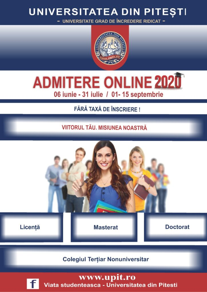 Admitere 2020 la Universitatea din Pitești