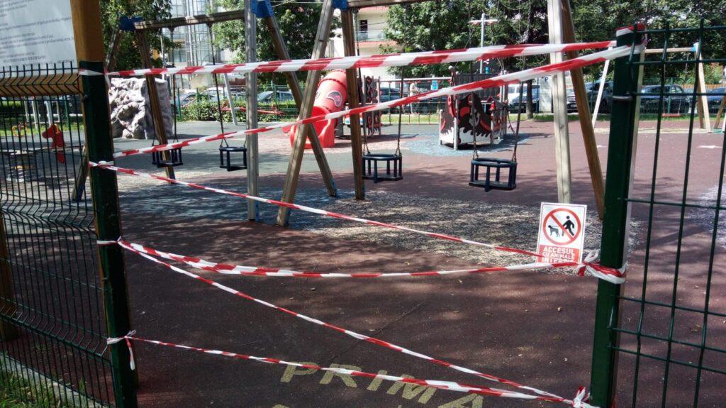 Scandal în parcul de la Finanțe!