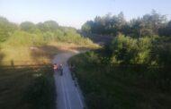 Tipic românesc: Pistă de ciclism neterminată în Lunca Argeșului!