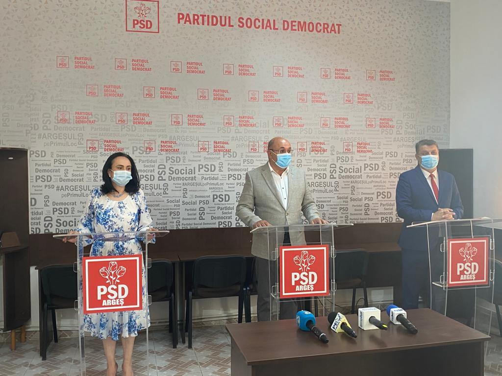 CONFERINŢĂ DE PRESĂ LA PSD Argeș