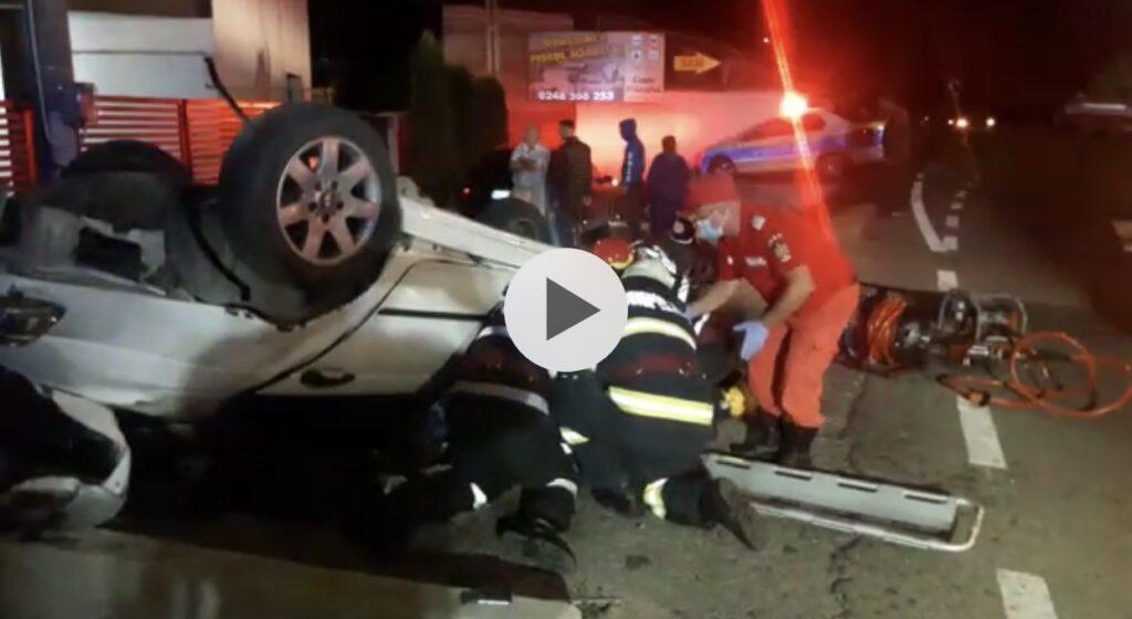 VIDEO - ACCIDENT GRAV LA SCHITU GOLEȘTI. PASAGER ÎN STARE CRITICĂ