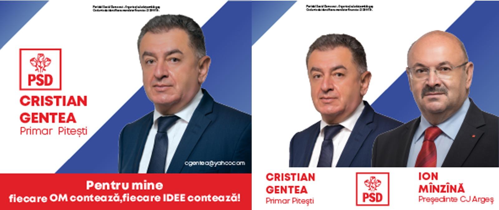 Gentea&Manzana PSD lateral Campanie Electorala